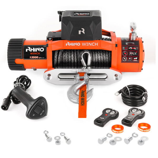 Rhino Winch Co  13,500lb Winch features