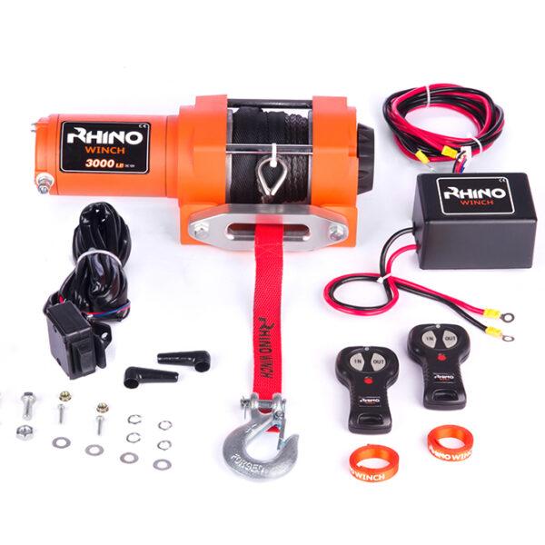 Rhino Winch Co  3,000lb Orange ATV Winch features